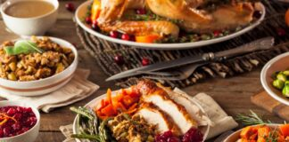 Holidays food turkey dinner