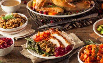 Christmas Thanksgiving meal food