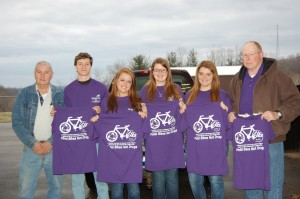 Left to right, Alvie Pelfrey, JohnMichael Roberts, Haley Arthur, Kaylyn Beam, Alyssa Hunter, Dan Dobbins