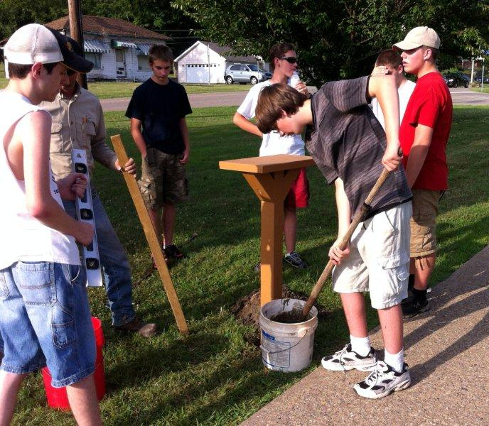 Mayor Dedicates Little Free Library Eagle Scout Project
