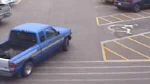 The victim's vehicle was spotted Tuesday in Gallia County. Police photo.