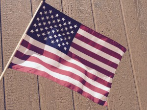 Big or small, fly the American flag. File photo.