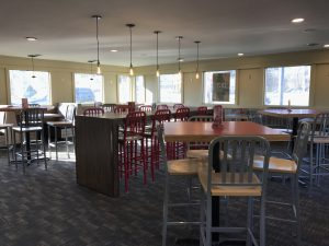 The Pomeroy Pizza Hut dinning room has been closed for about a month and a half for an extensive remodel. It is now open for customers with modern decor. Photo by Carrie Gloeckner.