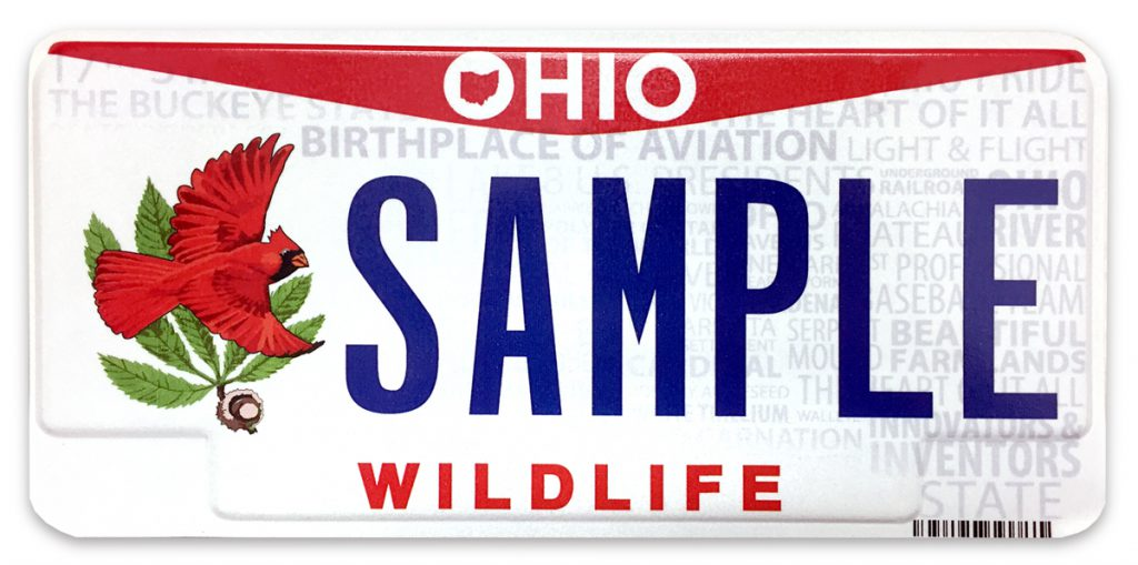 New cardinal license plate available meigs independent press for Where to buy fishing license near me
